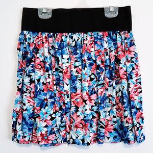 Forever 21 Blue Floral Skirt M